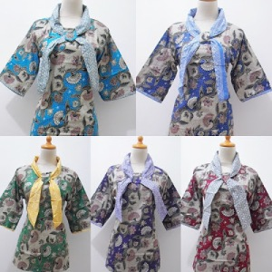 BOB 100 ALL COLOUR,,BLOUSE BATIK KERAH KOMBINASI,,MODEL DASI,,TANPA KARET BELAKANG,,UK ALL SIZE,,LD-P ; 96-67
