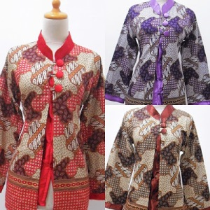 BOB_98_ALL_COLOUR_BLOUSE_BATIK_KERAH_SHANGHAI_LENGAN_PJG_BAG_DLM_KEMBEN_TEMPEL_KOMBI_SATIN_UK_M_96_71_L_100_72_XL_104_73
