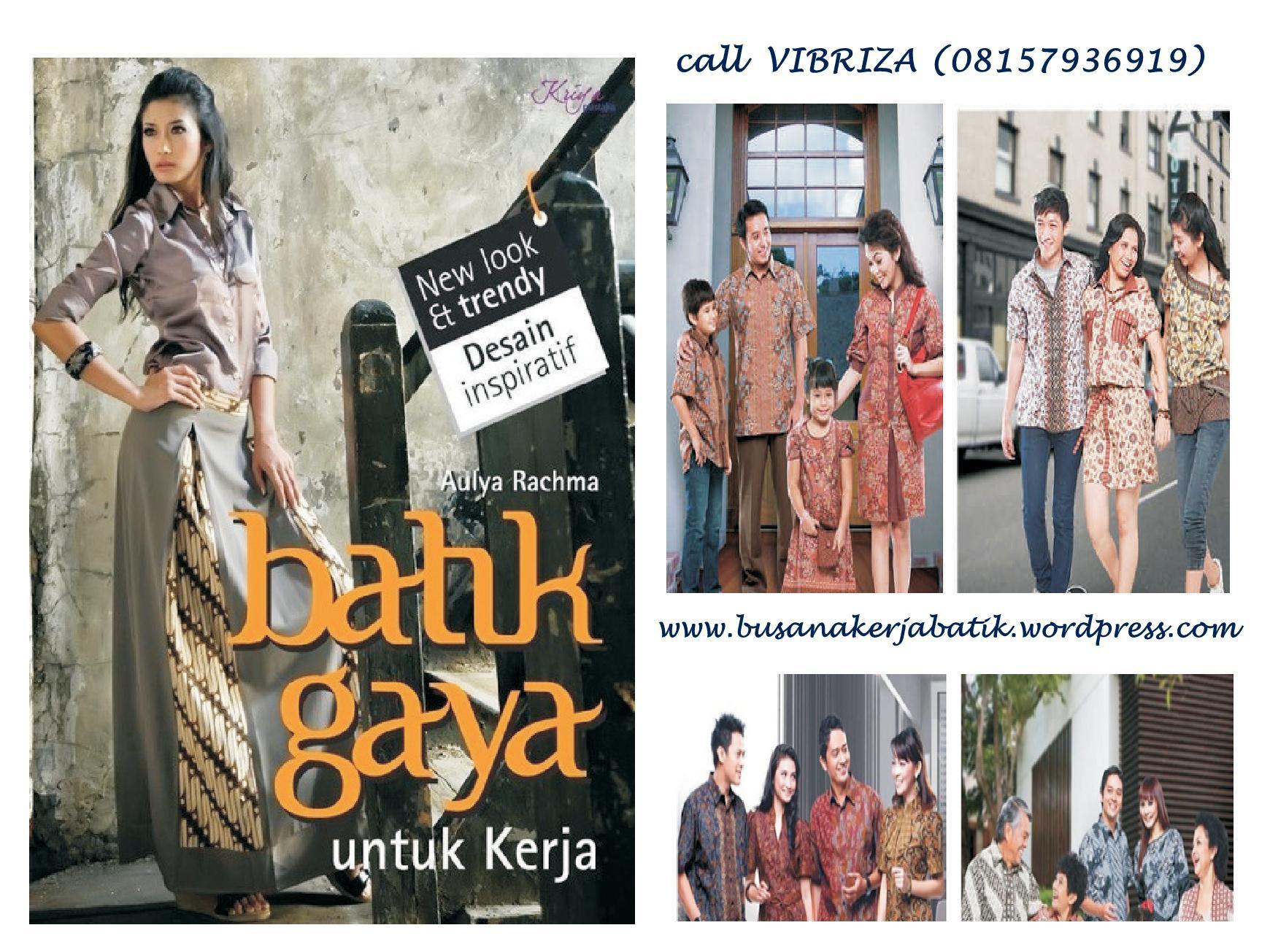 Model Busana Batik Modern Terbaru Koleksi Foto Kartun Kartunin